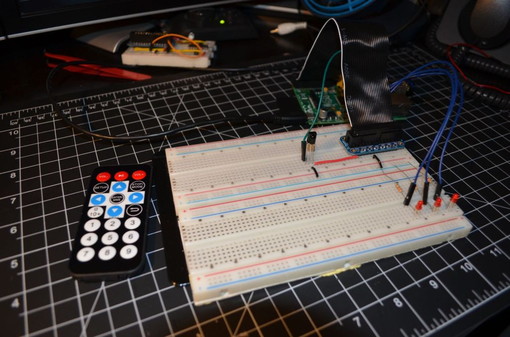 How to Control the GPIO on a Raspberry Pi with an IR Remote