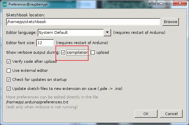 Raspberry Pi Arduino IDE