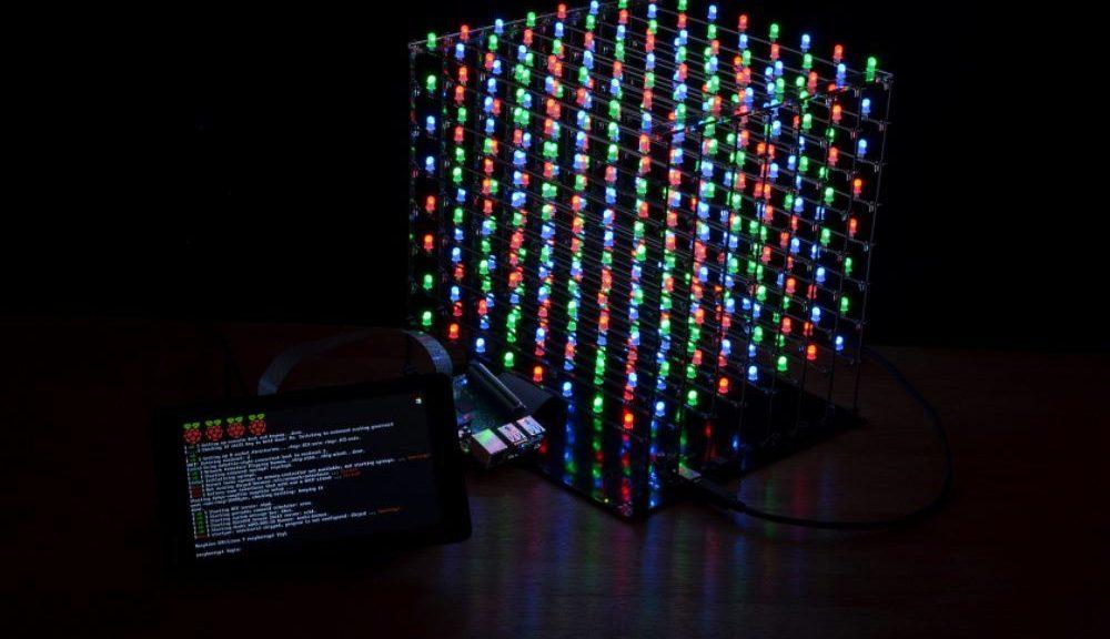 Raspberry Pi RGB LED cube